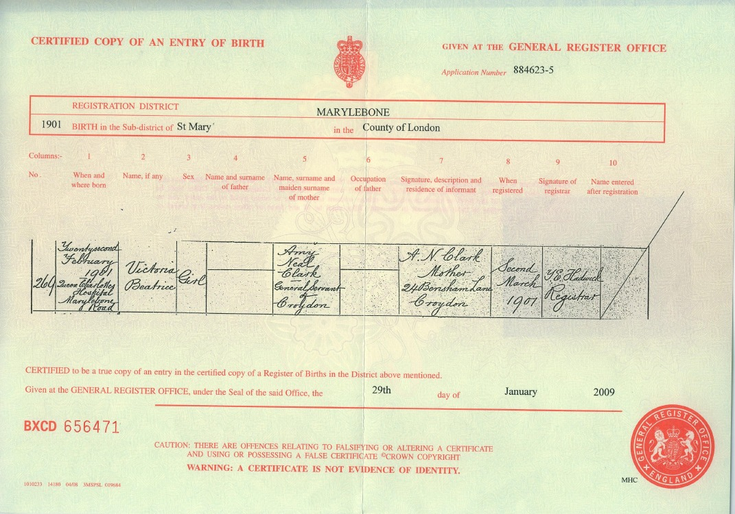 Amy neil clark cheeper according to vbs birth certificate she was aiddatafo Image collections