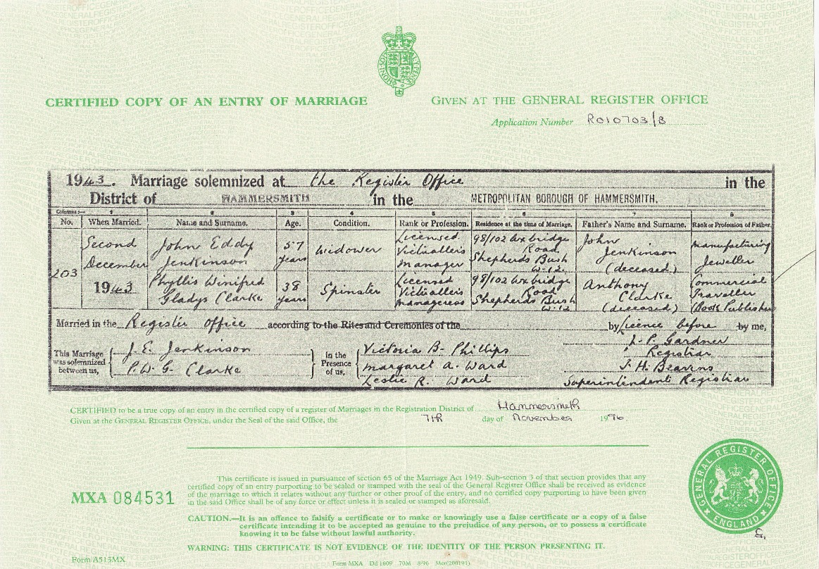 Amy neil clark cheeper pgw as on her birth cert nor wpg as she might have preferred and as 38 john eddy jenkinson is recorded as a widower on the marriage certificate aiddatafo Image collections